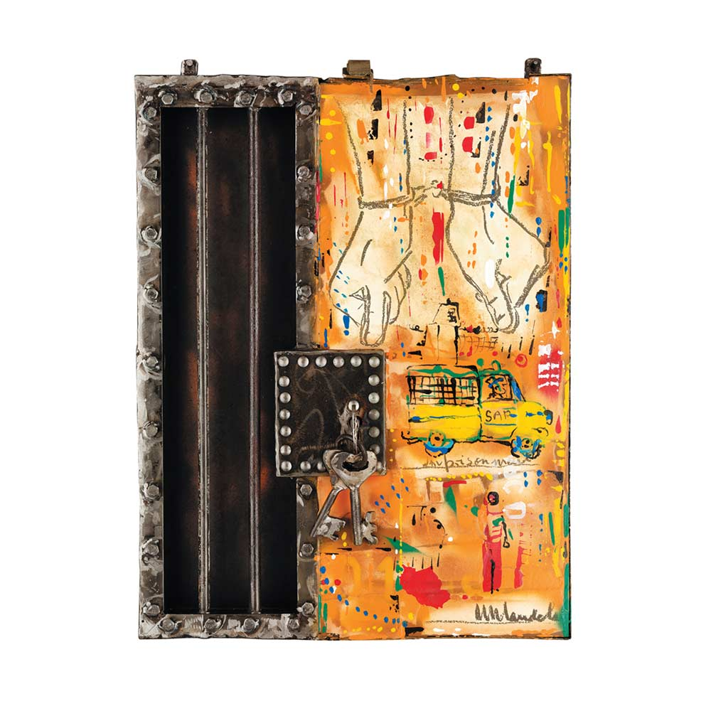 Willie Bester Imprisonment Mandela Unity Series Art works Assemblage 2014