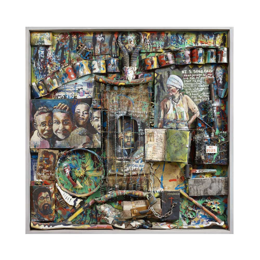 Willie Bester Semekazi (Migrant Miseries) - Art works Assemblage 1993
