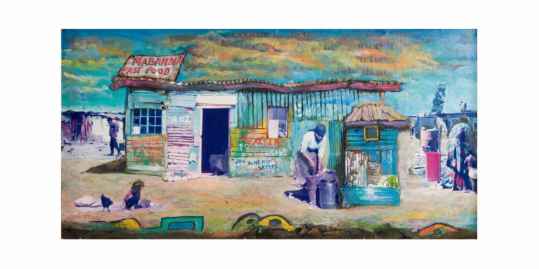 Willie Bester Township Shack Art works Collage 1995