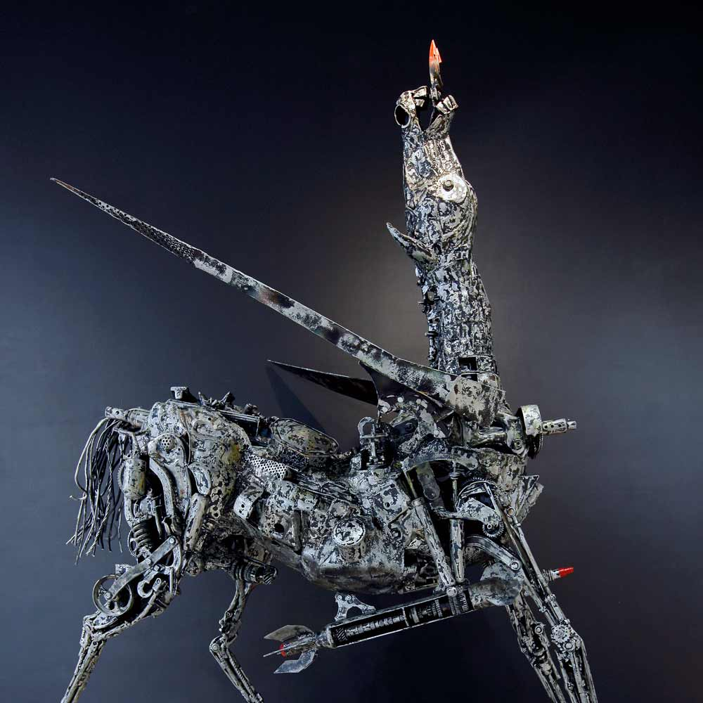Willie Bester Horse Apocalypse Art works Sculpture 2017