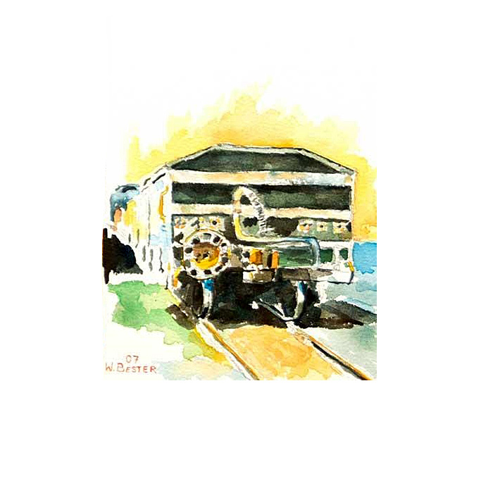 Willie Bester - Coal Train Art works Watercolour 2009