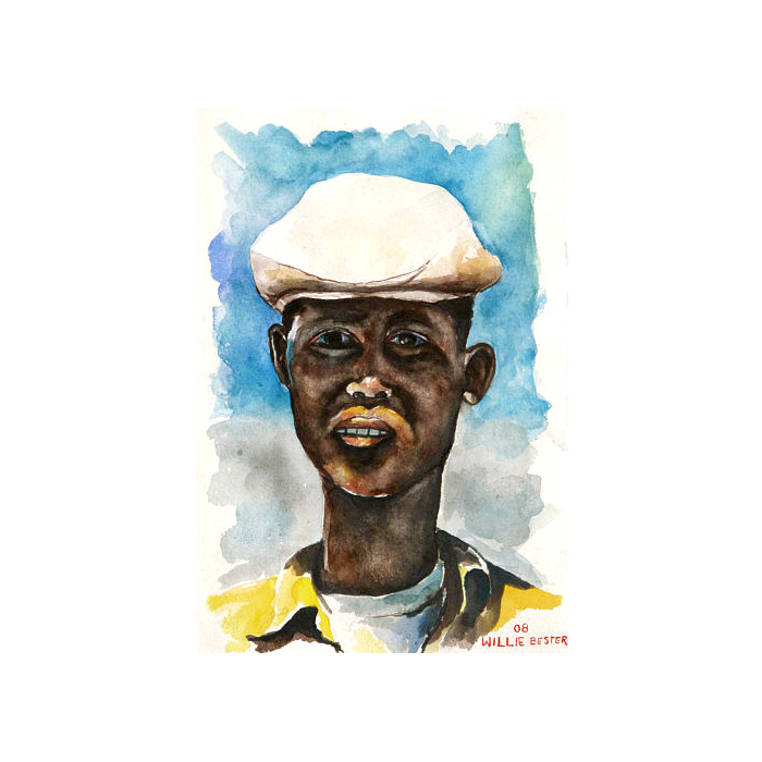 Willie Bester Jongile Art works Watercolour 2009