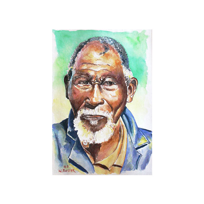 Willie Bester Portrait 1 Art works Watercolour 2009